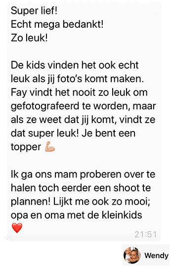 Door Danny Fotografie - Whatsapp Reactie - Wendy